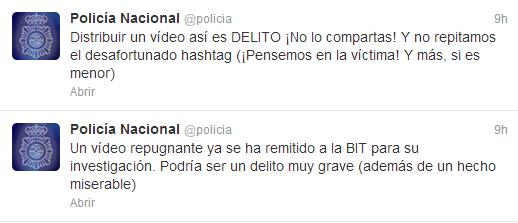 vídeo twitter policía