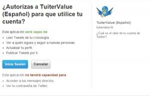 twitvalue 300x191 TwitValue ¿Cuánto vale mi cuenta en Twitter?, problema de seguridad