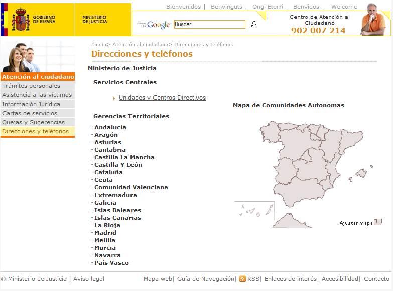 Revista legal el portal permite visualizar for Oficina de asistencia en materia de registros